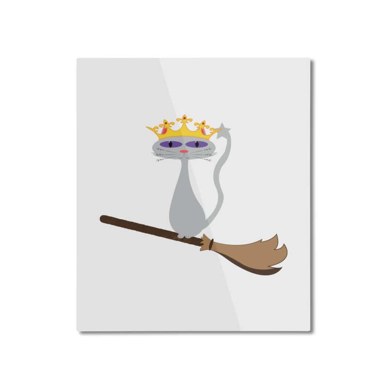 Princess Meera on a Broomstick Home Mounted Aluminum Print by Magic Pixel's Artist Shop