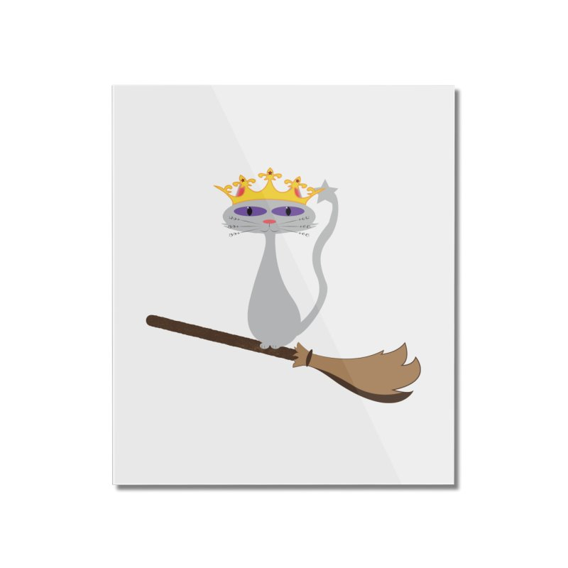 Princess Meera on a Broomstick Home Mounted Acrylic Print by Magic Pixel's Artist Shop