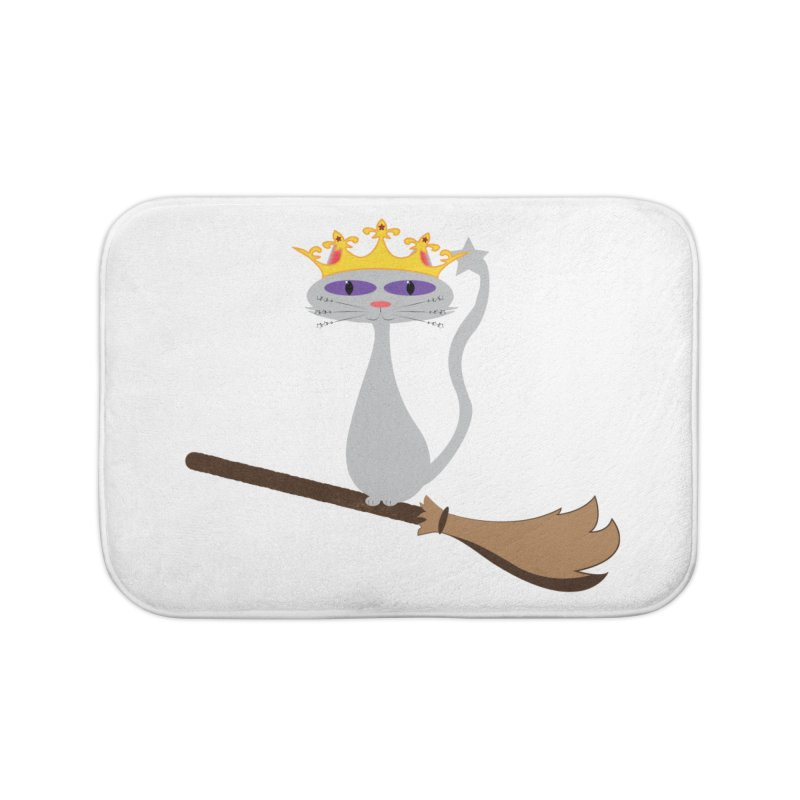 Princess Meera on a Broomstick Home Bath Mat by Magic Pixel's Artist Shop