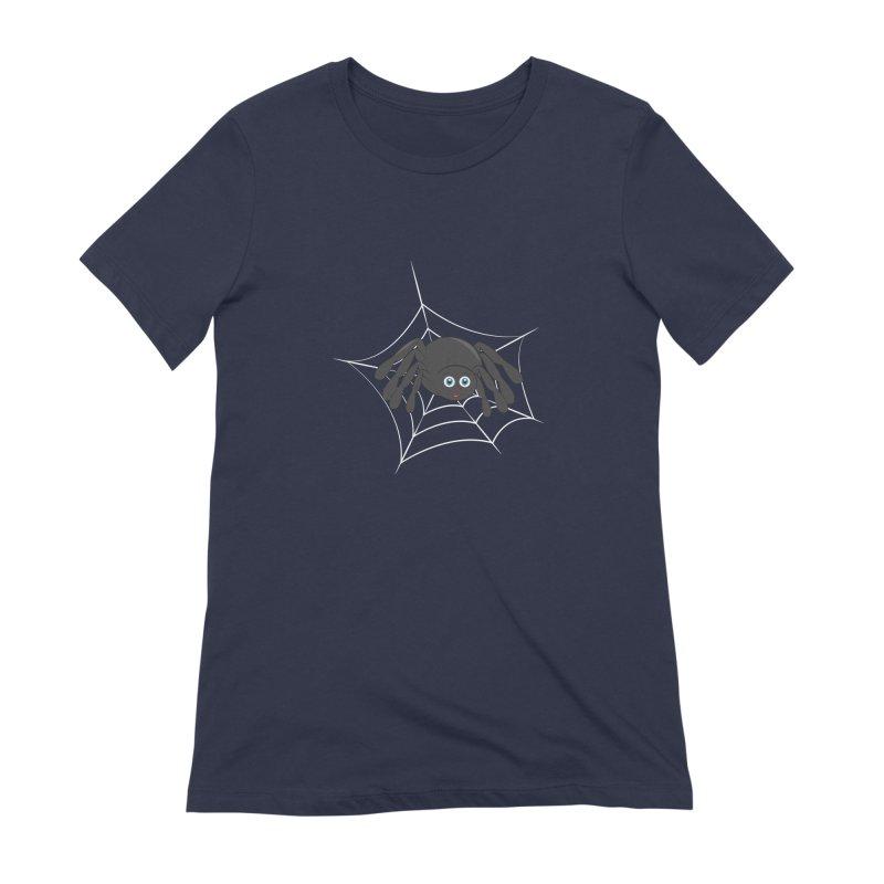 Halloween Spider Women's Extra Soft T-Shirt by Magic Pixel's Artist Shop