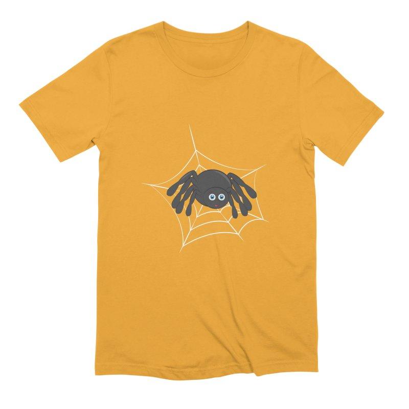 Halloween Spider Men's Extra Soft T-Shirt by Magic Pixel's Artist Shop