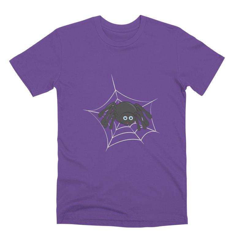Halloween Spider Men's Premium T-Shirt by Magic Pixel's Artist Shop