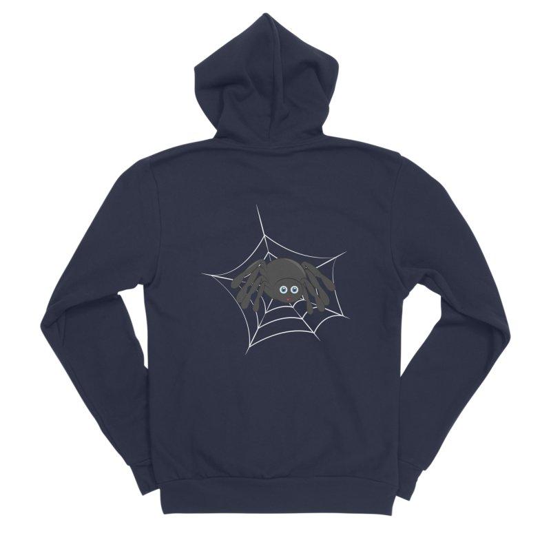 Halloween Spider Men's Sponge Fleece Zip-Up Hoody by Magic Pixel's Artist Shop