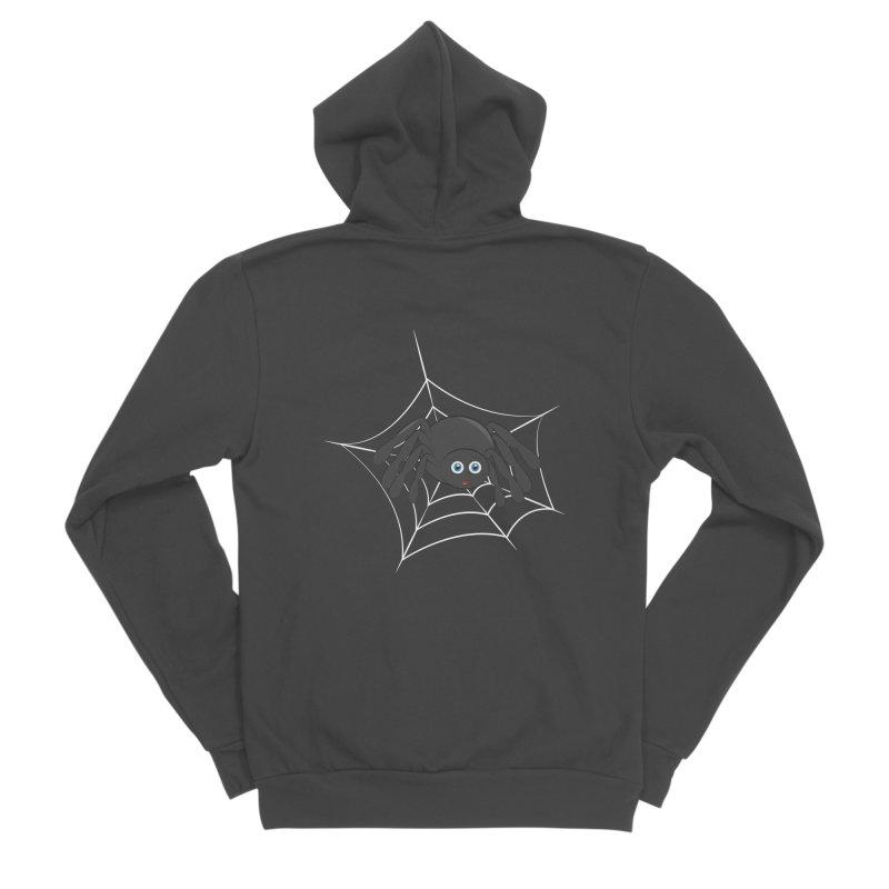 Halloween Spider Women's Sponge Fleece Zip-Up Hoody by Magic Pixel's Artist Shop