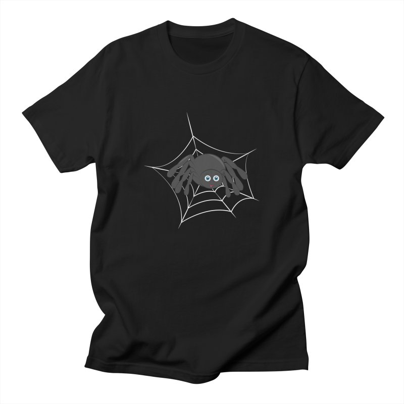 Halloween Spider Men's Regular T-Shirt by Magic Pixel's Artist Shop