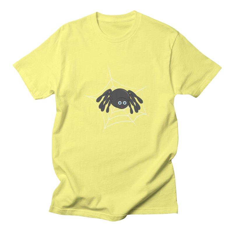 Halloween Spider Men's Regular T-Shirt by Magic Pixel's Artist Shop