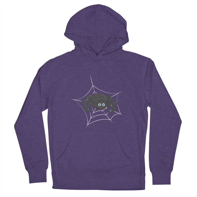 Halloween Spider Men's French Terry Pullover Hoody by Magic Pixel's Artist Shop