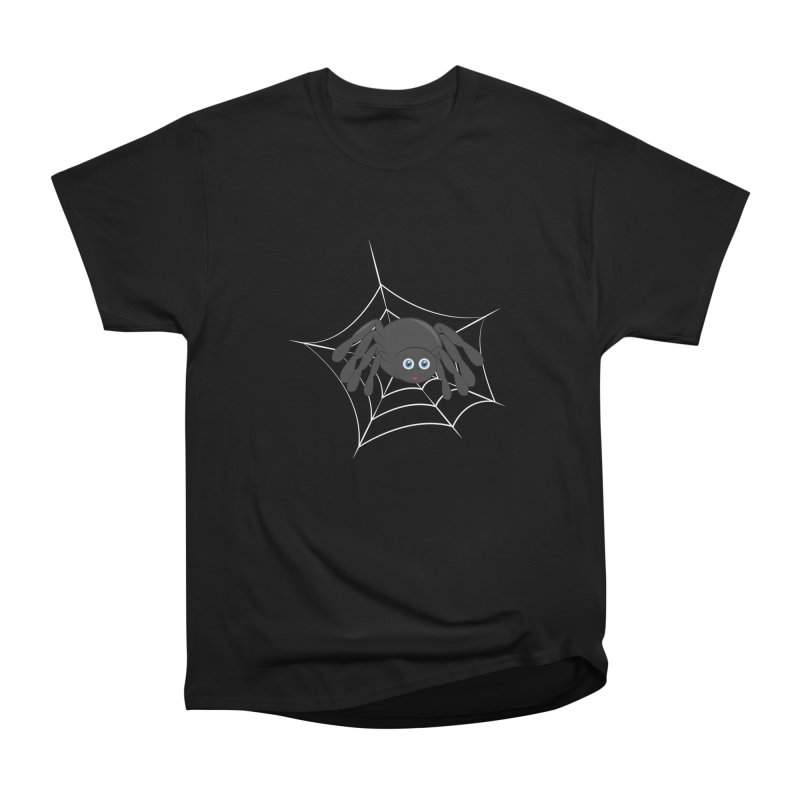 Halloween Spider Women's Heavyweight Unisex T-Shirt by Magic Pixel's Artist Shop