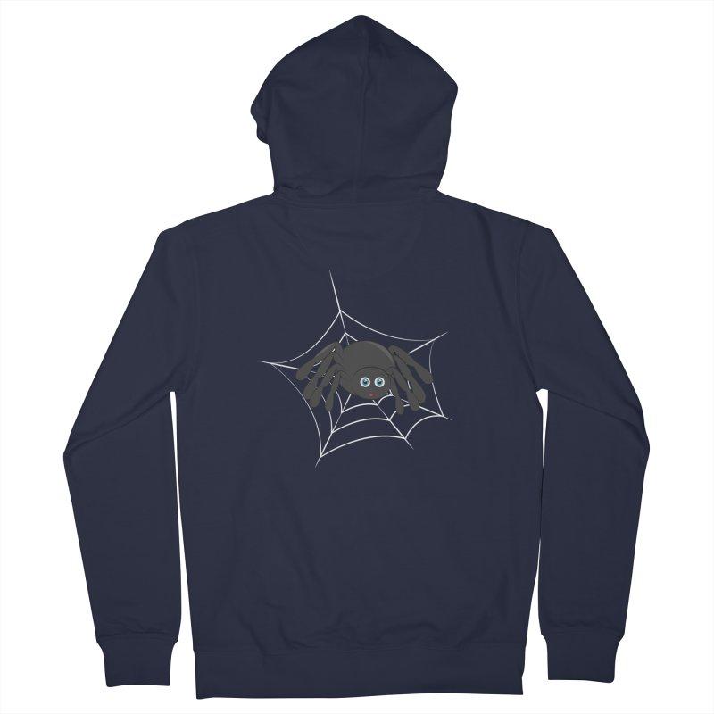 Halloween Spider Women's French Terry Zip-Up Hoody by Magic Pixel's Artist Shop