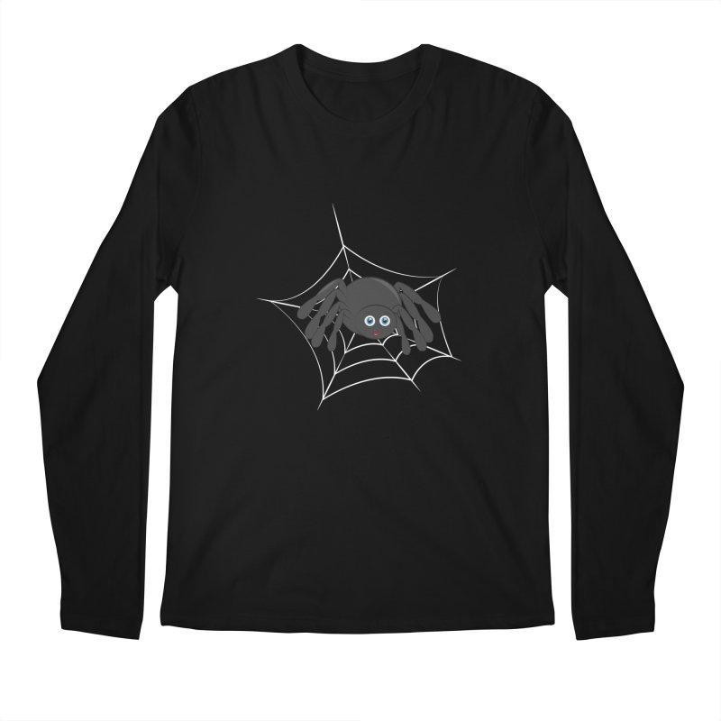Halloween Spider Men's Regular Longsleeve T-Shirt by Magic Pixel's Artist Shop