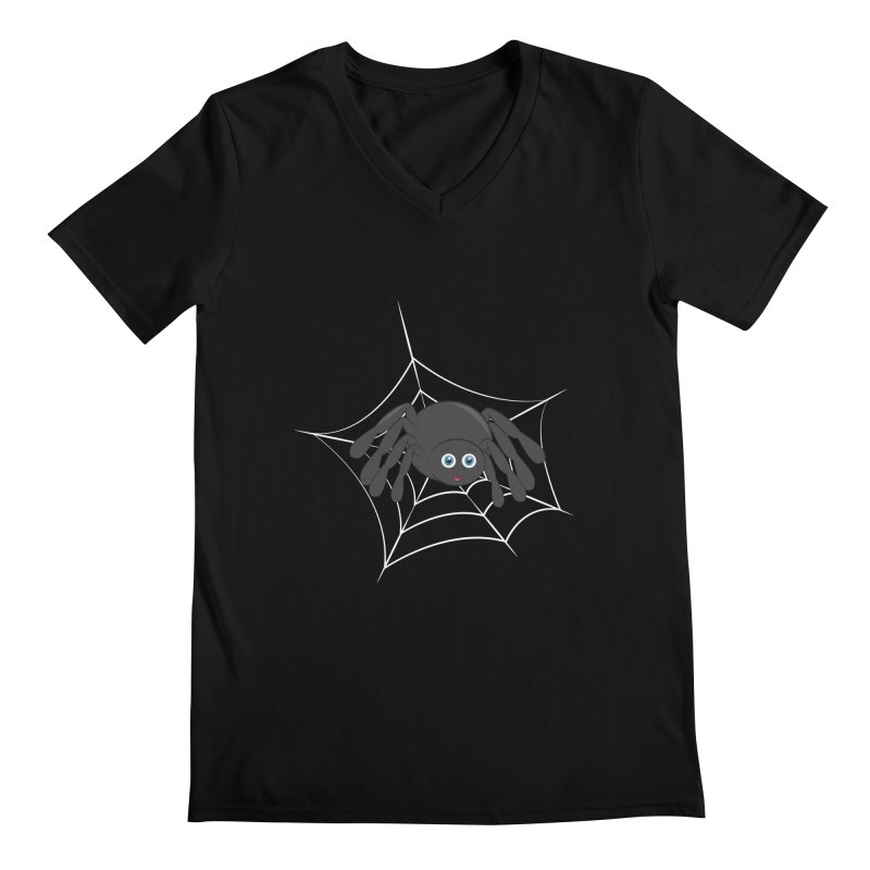 Halloween Spider Men's Regular V-Neck by Magic Pixel's Artist Shop