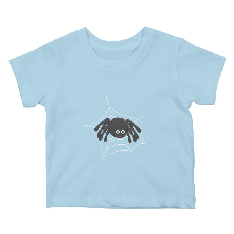 Halloween Spider Kids Baby T-Shirt by Magic Pixel's Artist Shop