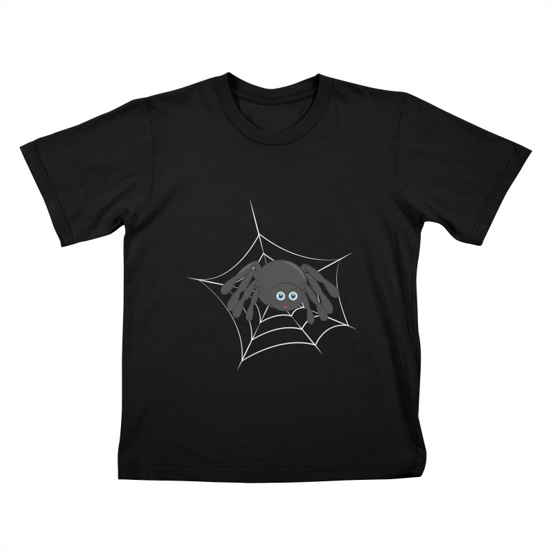 Halloween Spider Kids T-Shirt by Magic Pixel's Artist Shop