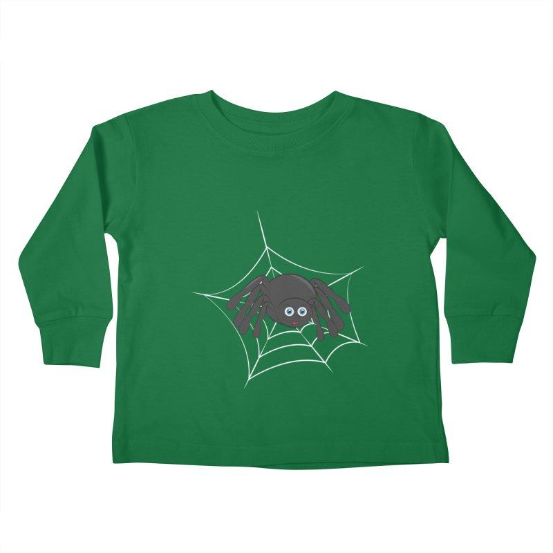 Halloween Spider Kids Toddler Longsleeve T-Shirt by Magic Pixel's Artist Shop