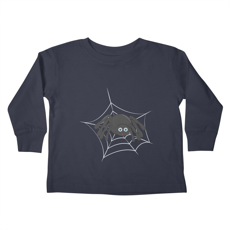 Halloween Spider Kids Toddler Longsleeve T-Shirt by Magic Pixel's Artist Shop