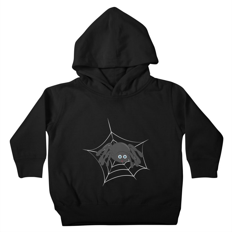 Halloween Spider Kids Toddler Pullover Hoody by Magic Pixel's Artist Shop