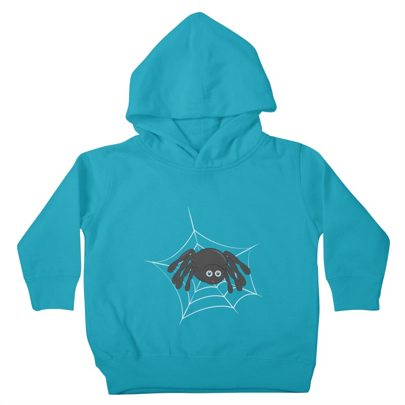 Halloween Spider Kids Toddler Pullover Hoody by Magic Pixel's Artist Shop