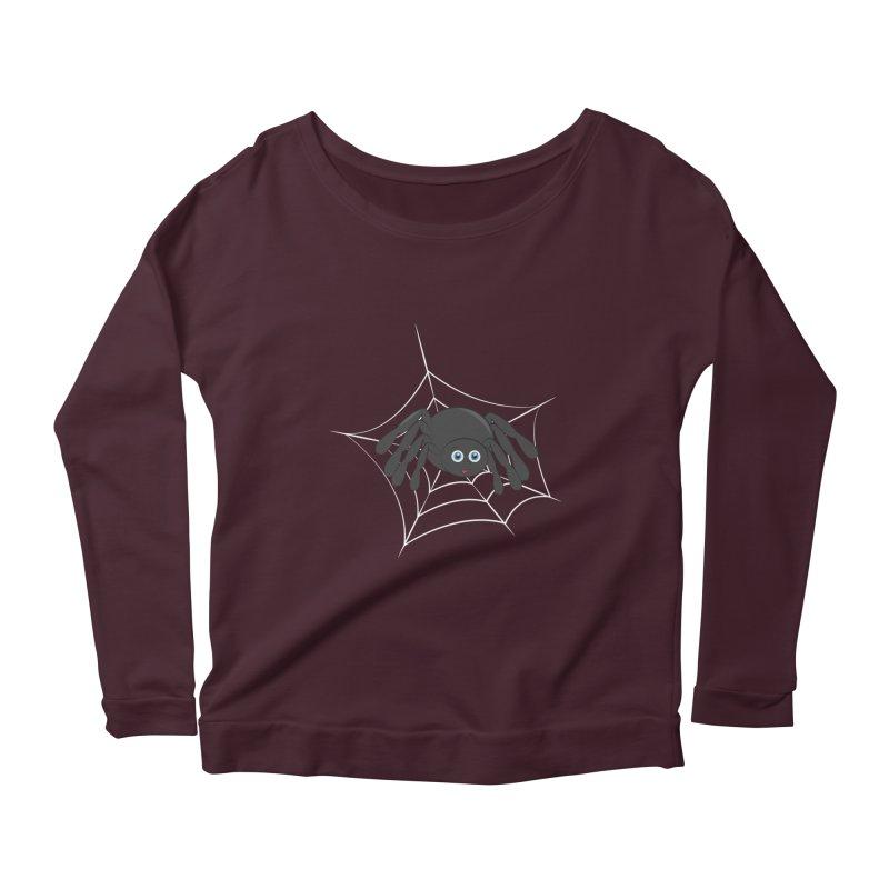 Halloween Spider Women's Scoop Neck Longsleeve T-Shirt by Magic Pixel's Artist Shop
