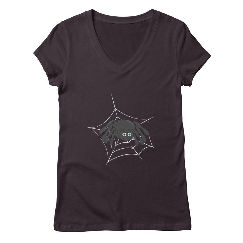 Halloween Spider Women's Regular V-Neck by Magic Pixel's Artist Shop
