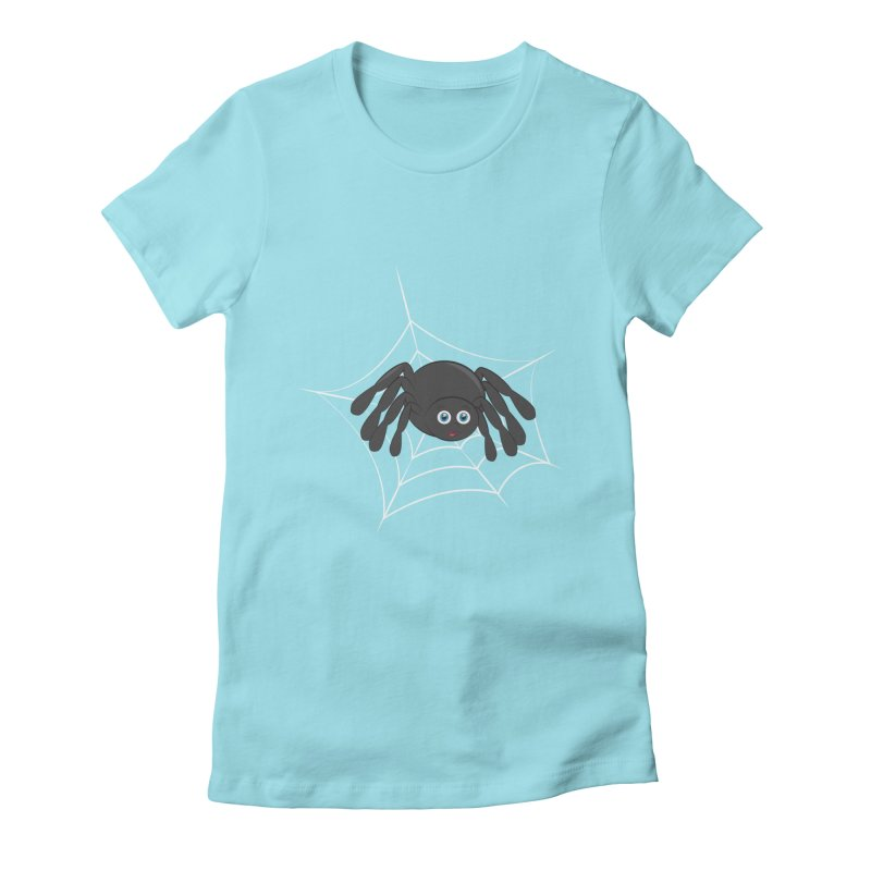 Halloween Spider Women's Fitted T-Shirt by Magic Pixel's Artist Shop