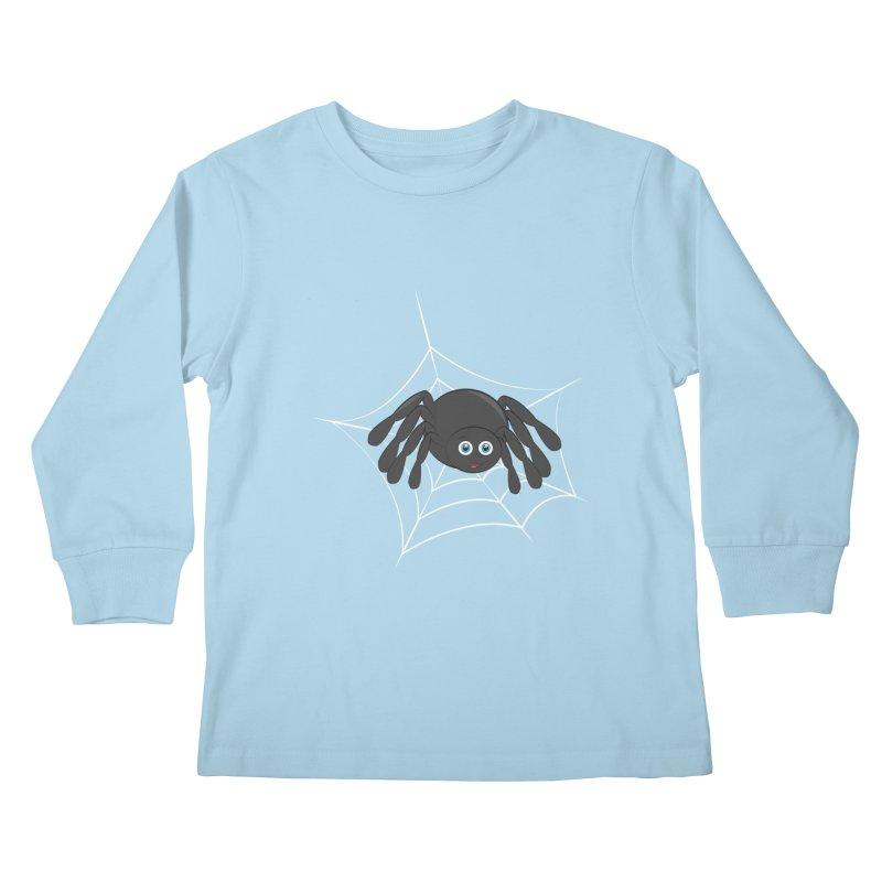 Halloween Spider Kids Longsleeve T-Shirt by Magic Pixel's Artist Shop