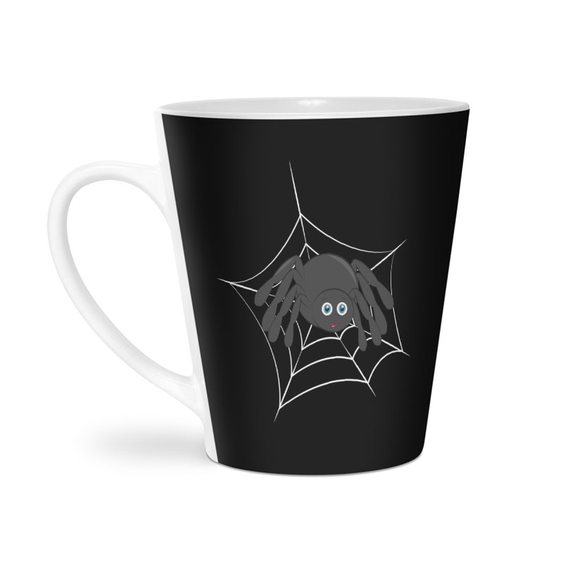 Halloween Spider Accessories Latte Mug by Magic Pixel's Artist Shop