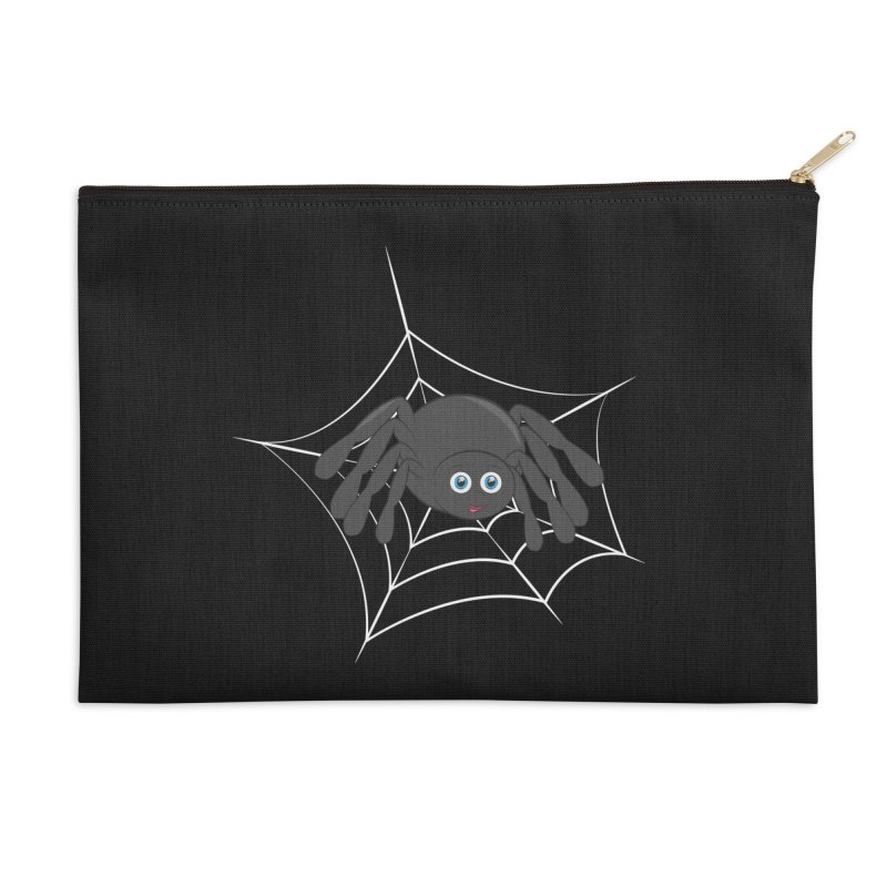 Halloween Spider Accessories Zip Pouch by Magic Pixel's Artist Shop