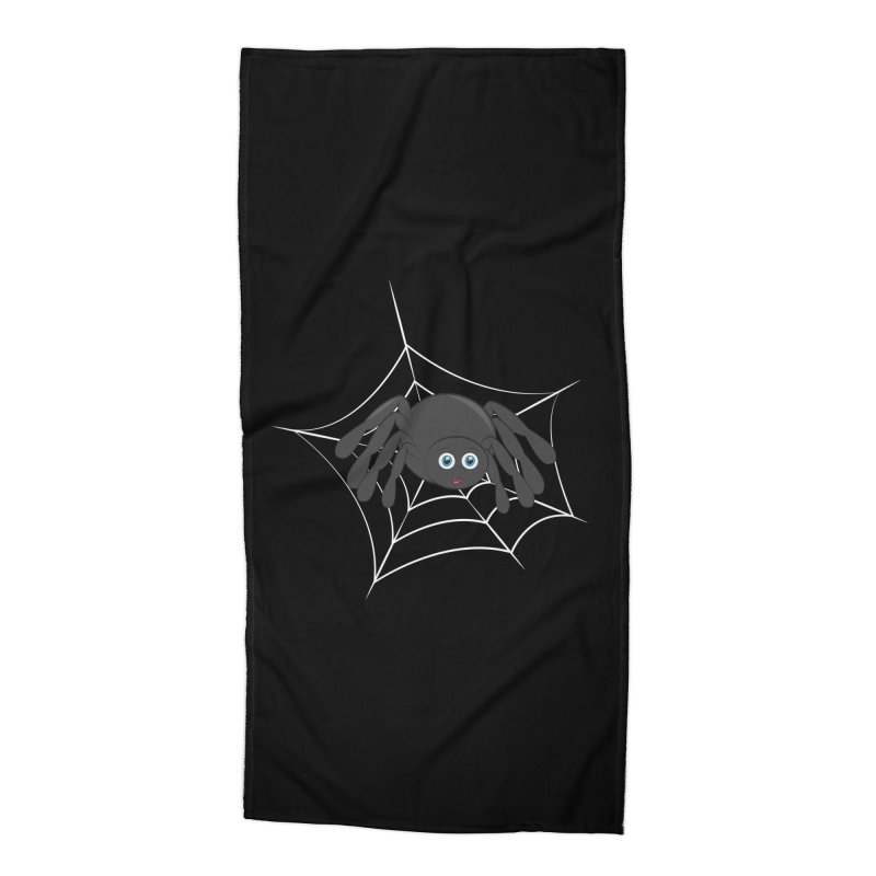 Halloween Spider Accessories Beach Towel by Magic Pixel's Artist Shop