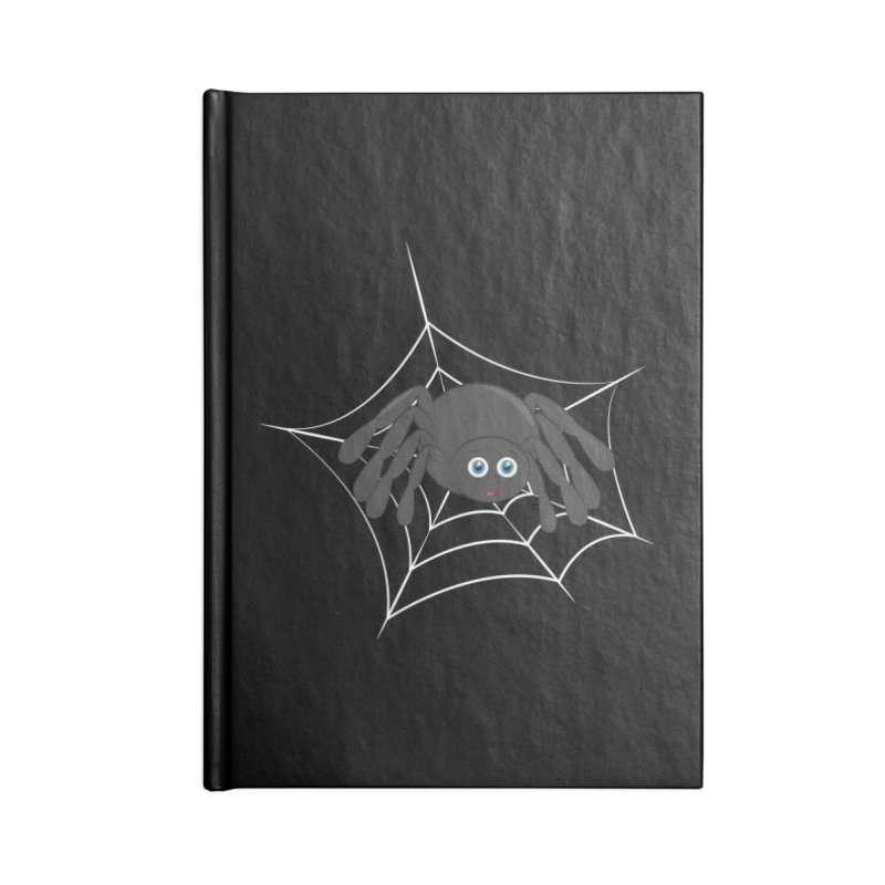 Halloween Spider Accessories Lined Journal Notebook by Magic Pixel's Artist Shop