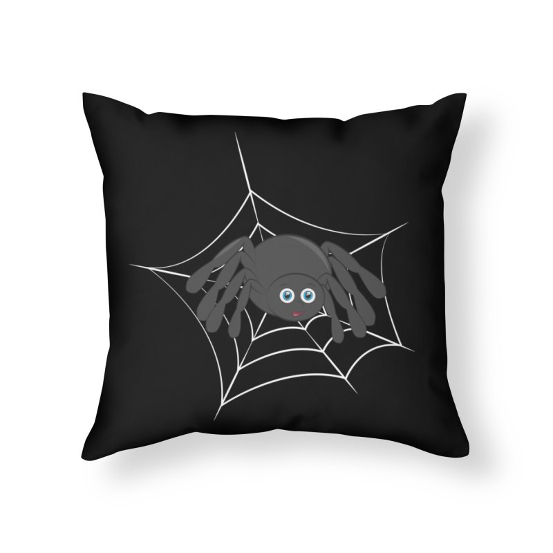 Halloween Spider Home Throw Pillow by Magic Pixel's Artist Shop