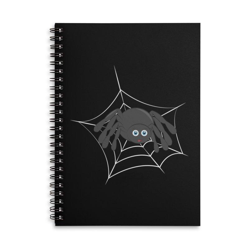 Halloween Spider Accessories Lined Spiral Notebook by Magic Pixel's Artist Shop