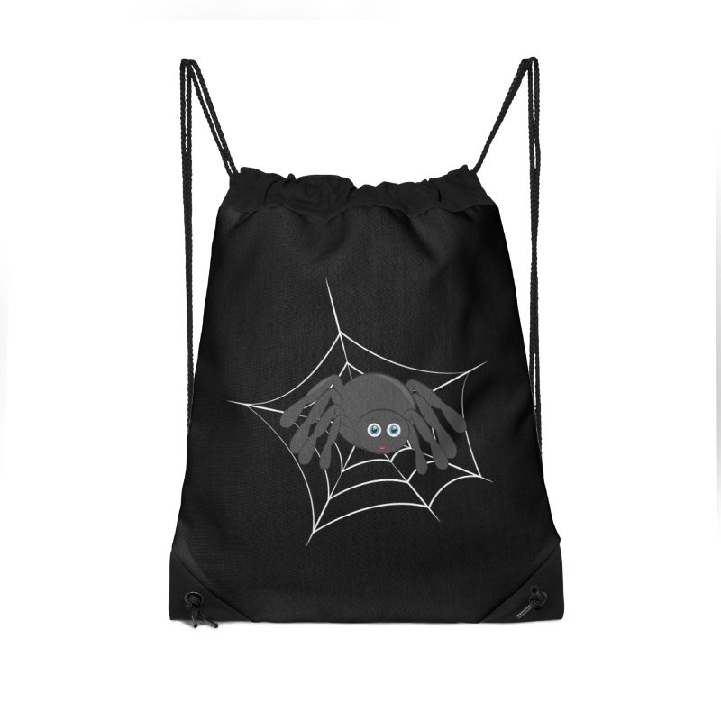 Halloween Spider Accessories Drawstring Bag Bag by Magic Pixel's Artist Shop