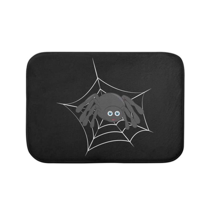 Halloween Spider Home Bath Mat by Magic Pixel's Artist Shop