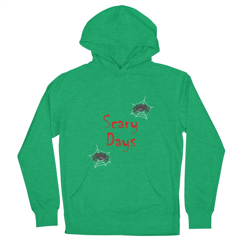 Scary Days Men's French Terry Pullover Hoody by Magic Pixel's Artist Shop
