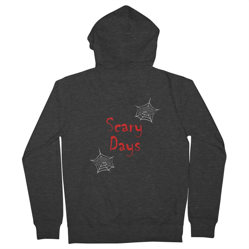 Scary Days Women's French Terry Zip-Up Hoody by Magic Pixel's Artist Shop