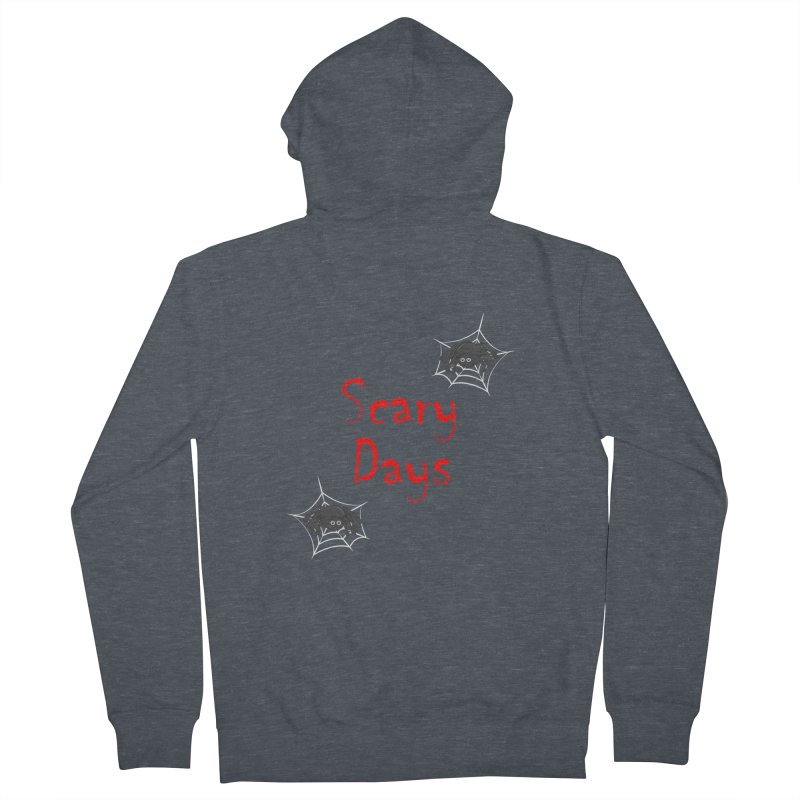 Scary Days Men's French Terry Zip-Up Hoody by Magic Pixel's Artist Shop
