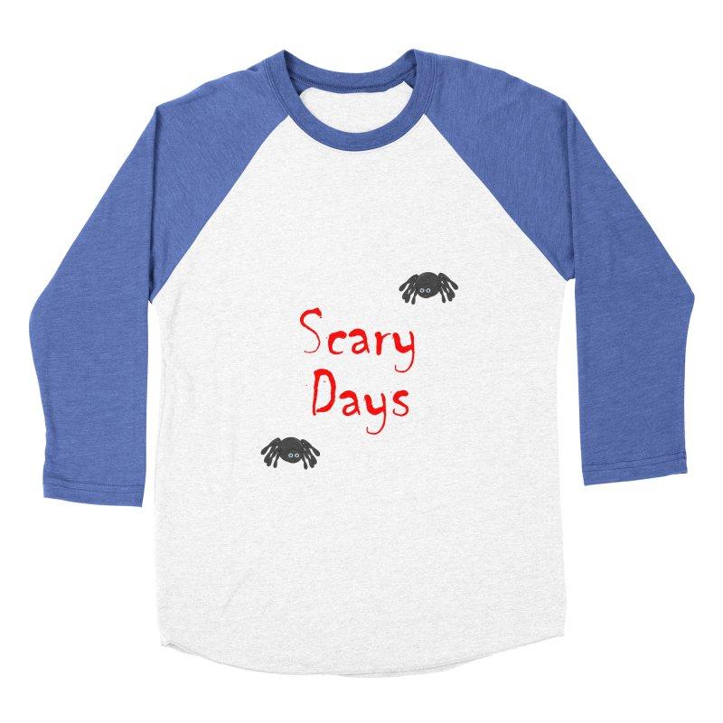 Scary Days Women's Baseball Triblend Longsleeve T-Shirt by Magic Pixel's Artist Shop