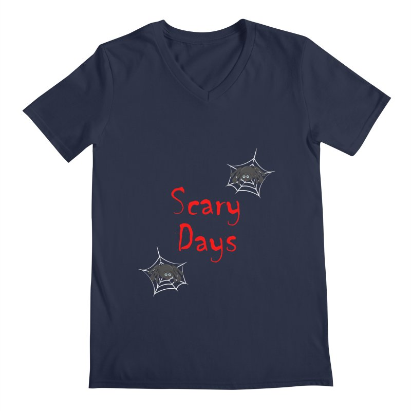 Scary Days Men's Regular V-Neck by Magic Pixel's Artist Shop