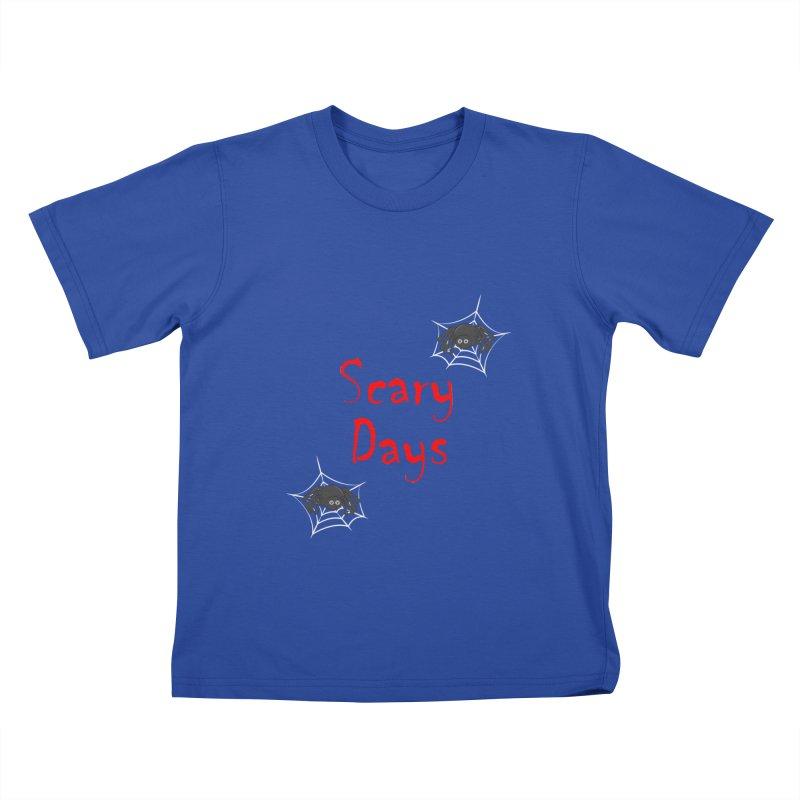 Scary Days Kids T-Shirt by Magic Pixel's Artist Shop