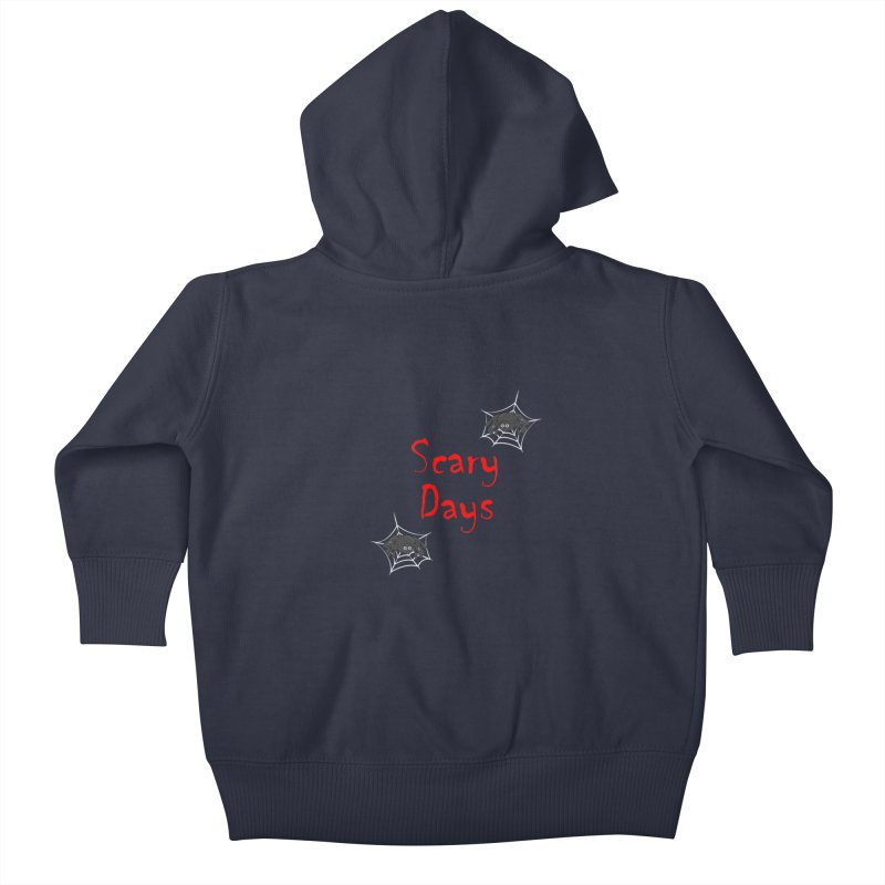 Scary Days Kids Baby Zip-Up Hoody by Magic Pixel's Artist Shop