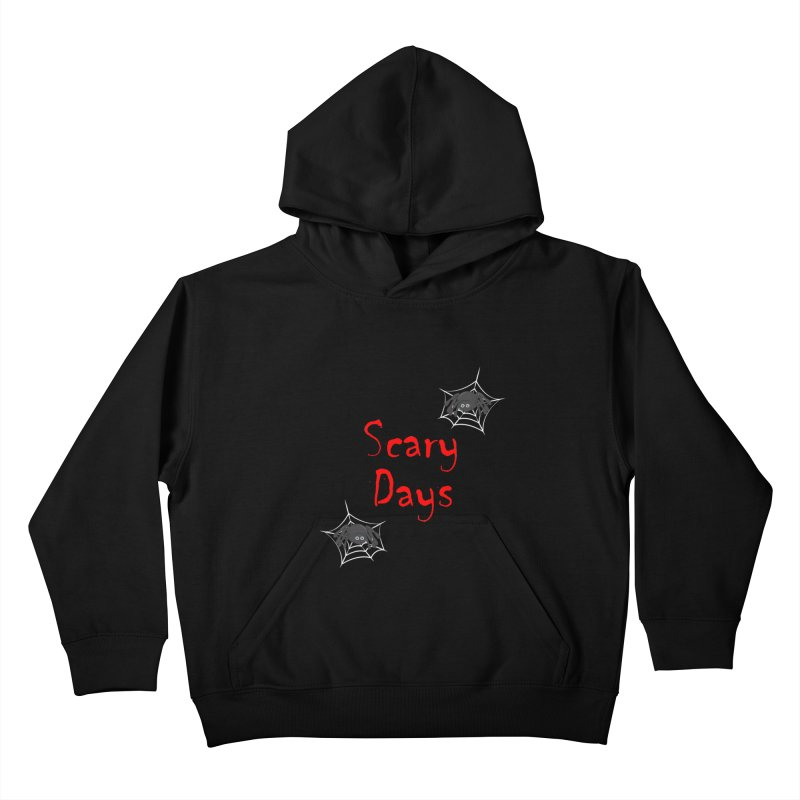 Scary Days Kids Pullover Hoody by Magic Pixel's Artist Shop
