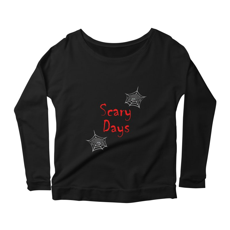 Scary Days Women's Scoop Neck Longsleeve T-Shirt by Magic Pixel's Artist Shop
