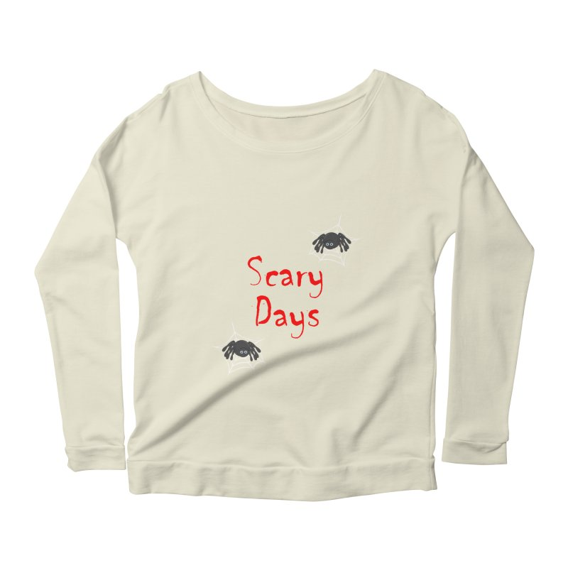 Scary Days Women's Scoop Neck Longsleeve T-Shirt by Magic Pixel's Artist Shop