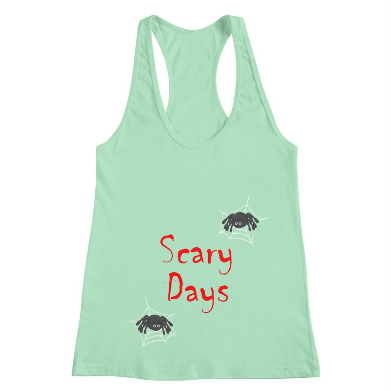 Scary Days Women's Racerback Tank by Magic Pixel's Artist Shop