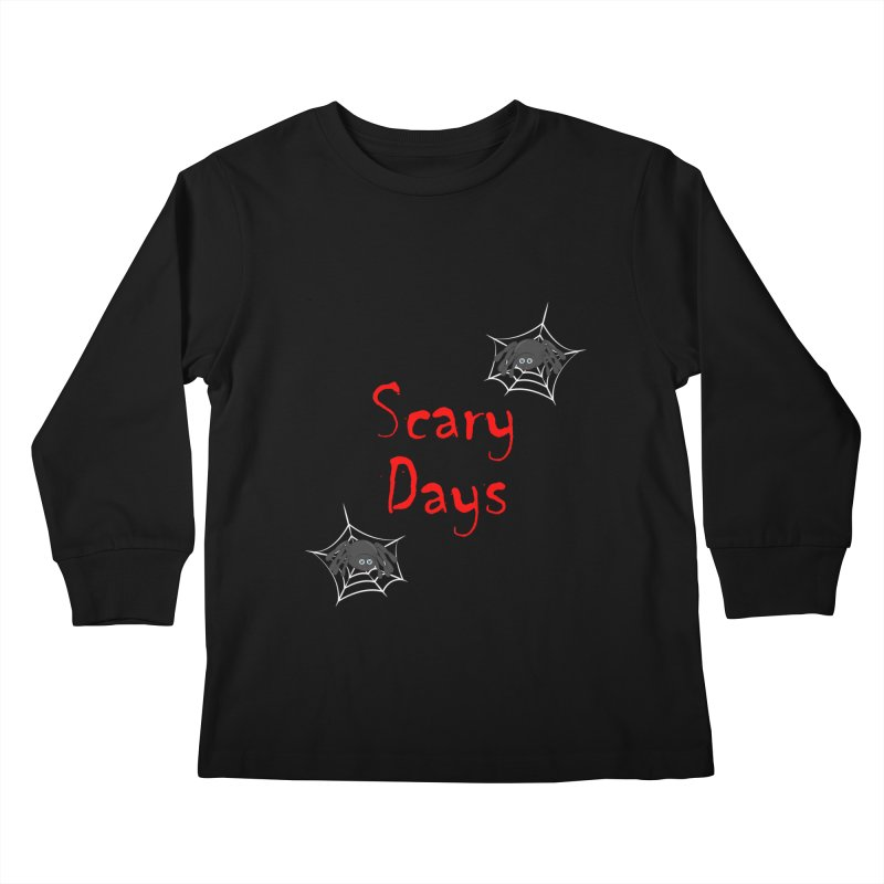 Scary Days Kids Longsleeve T-Shirt by Magic Pixel's Artist Shop