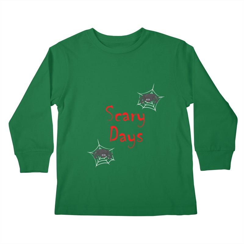 Scary Days Kids Longsleeve T-Shirt by Magic Pixel's Artist Shop