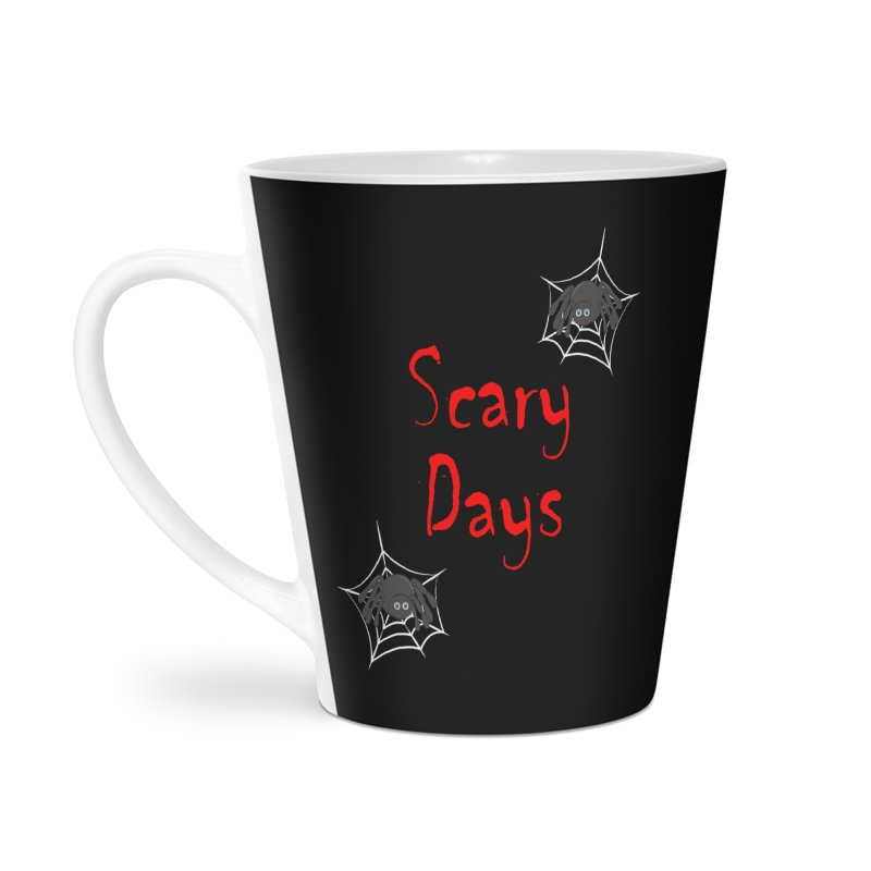 Scary Days Accessories Latte Mug by Magic Pixel's Artist Shop