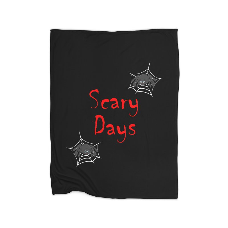 Scary Days Home Fleece Blanket Blanket by Magic Pixel's Artist Shop