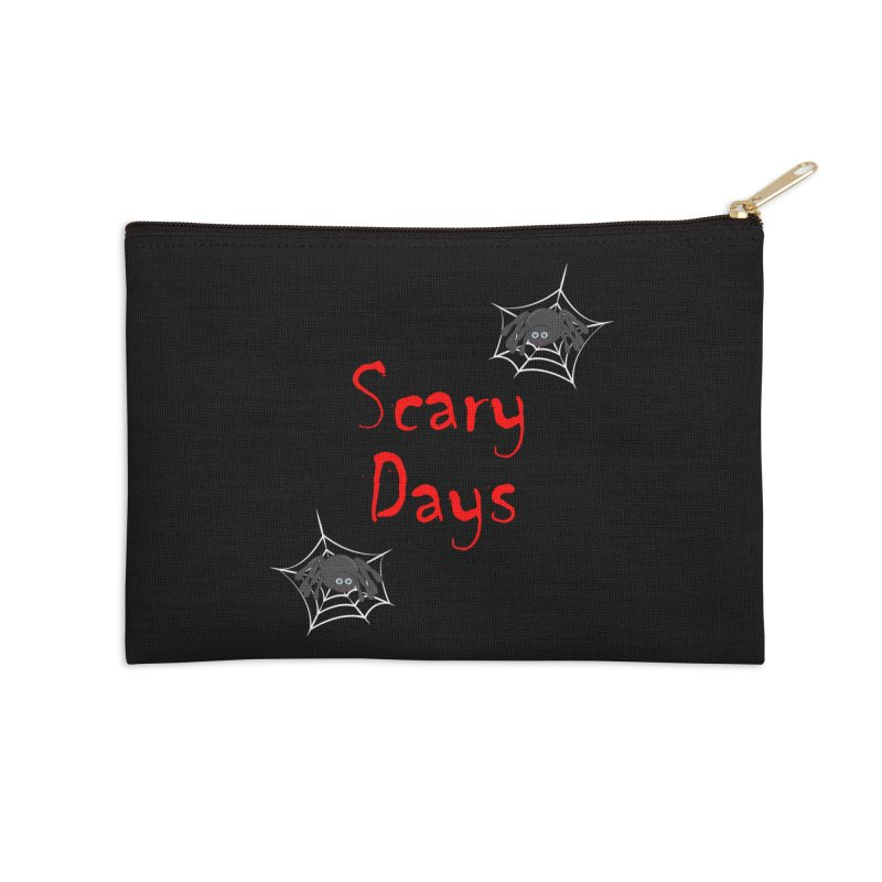 Scary Days Accessories Zip Pouch by Magic Pixel's Artist Shop