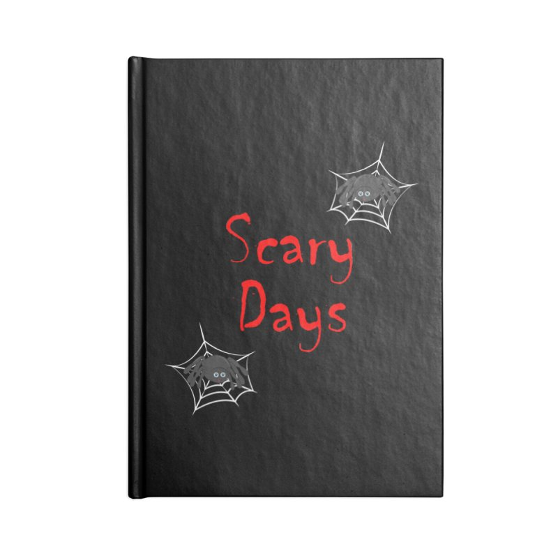 Scary Days Accessories Lined Journal Notebook by Magic Pixel's Artist Shop